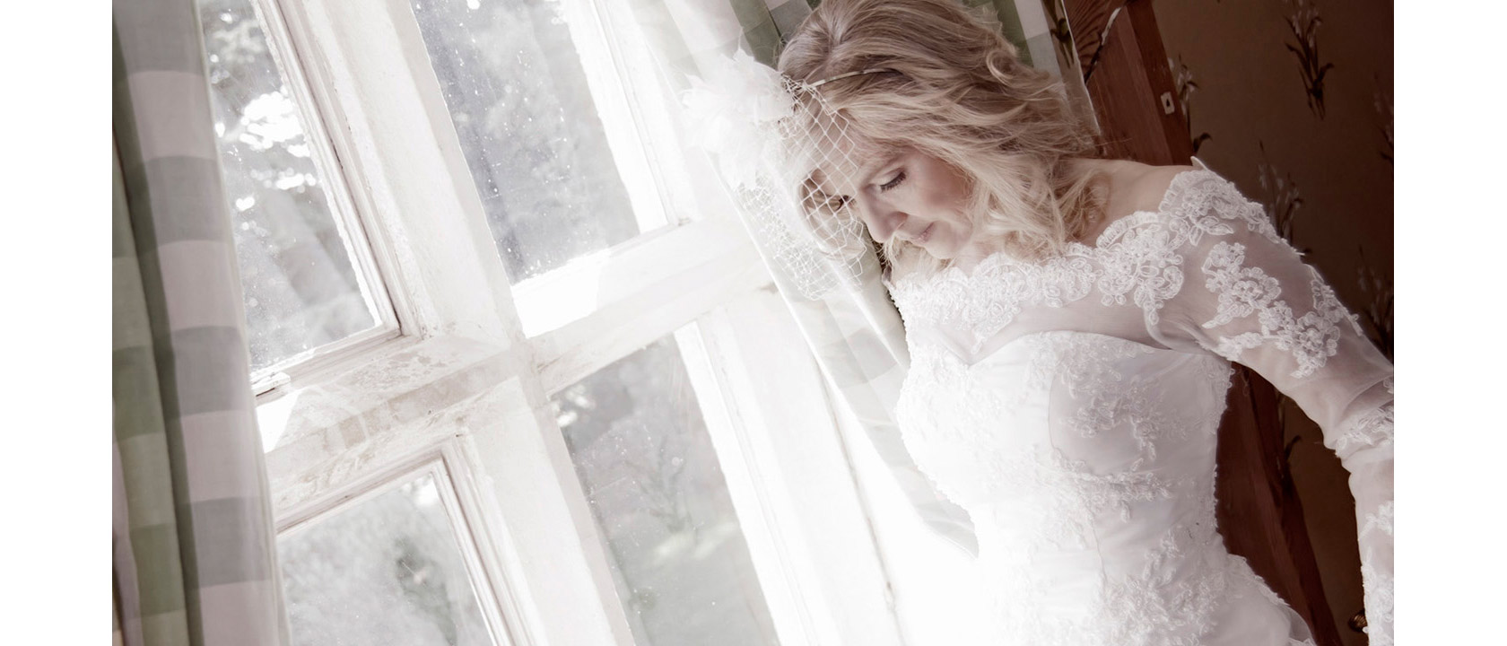 A photograph of a stunning bride in Leicestershire