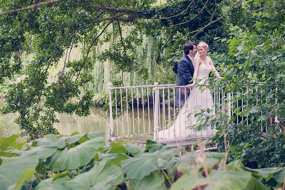 A beautiful bride and her gorgeous groom on their wedding day.