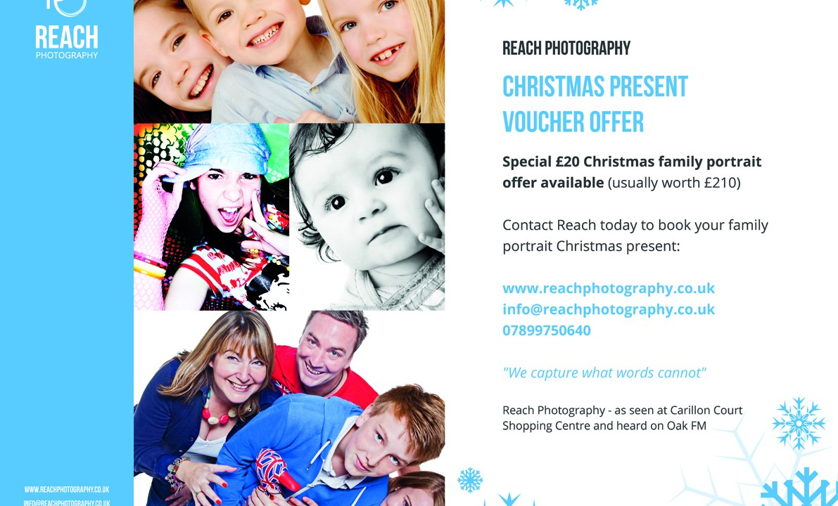£20 Christmas family portrait offer
