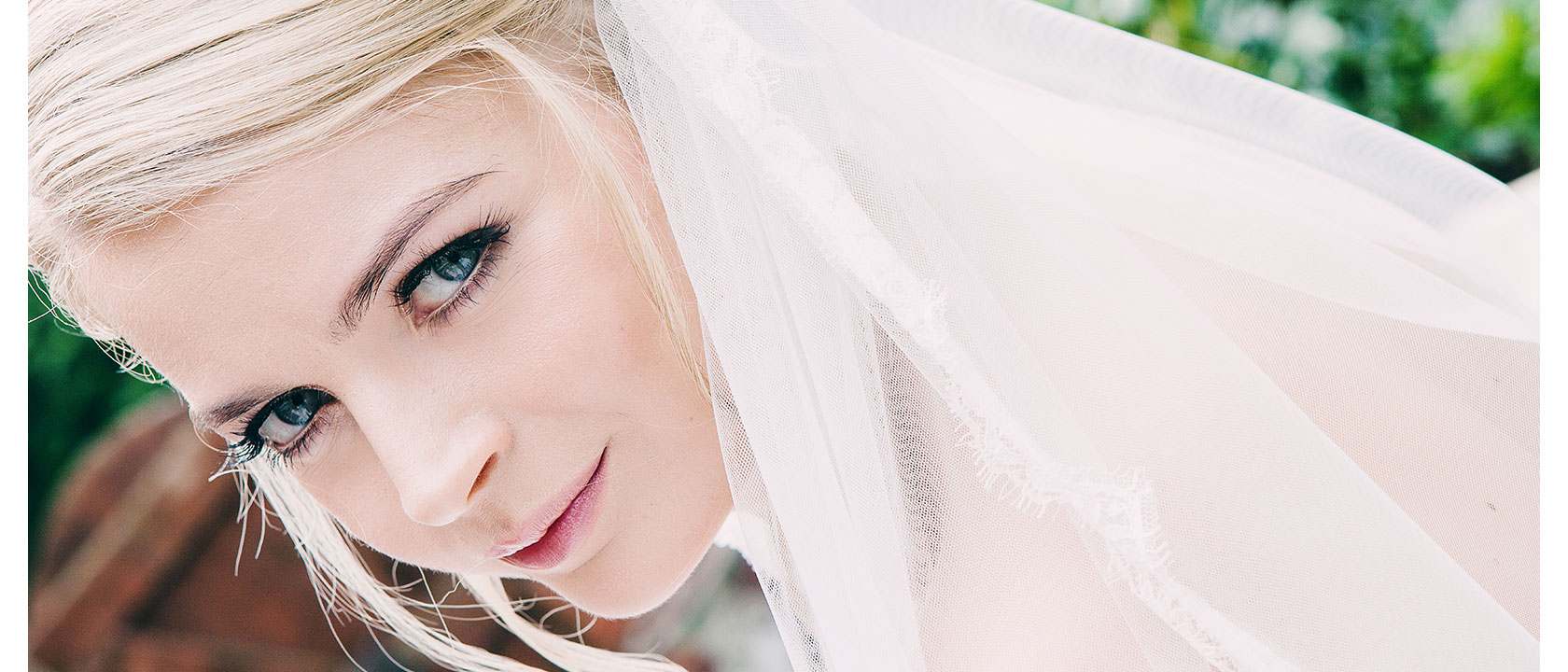 A perfect moment captured of a perfect bride on her wedding day.